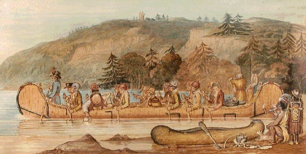 Voyage en canot